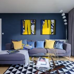 угловой диван в гостиной виды фото