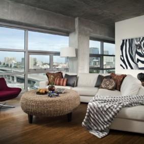 угловой диван в гостиной фото виды