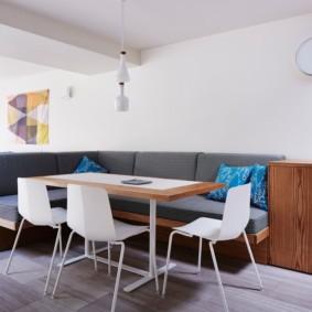 угловой диван в гостиной виды идеи