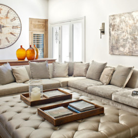угловой диван в гостиной виды дизайна