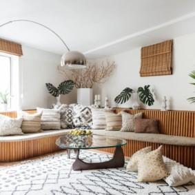 угловой диван в гостиной идеи