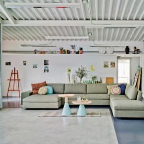 угловой диван в гостиной идеи фото