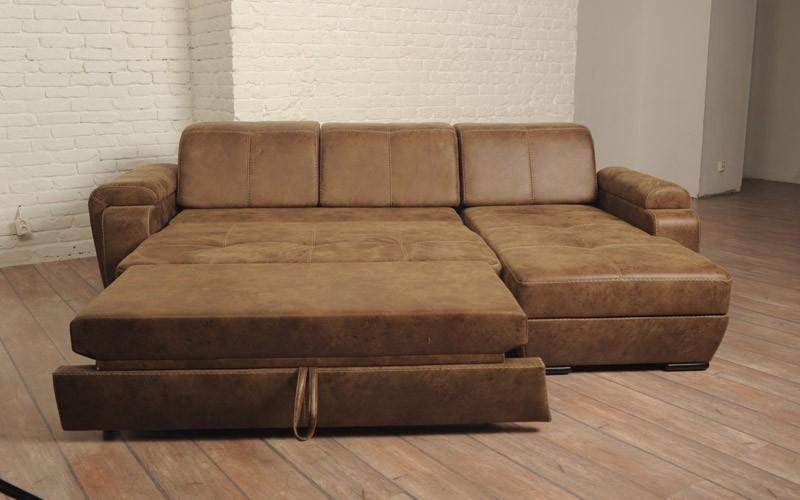 выкатной угловой диван в гостиной