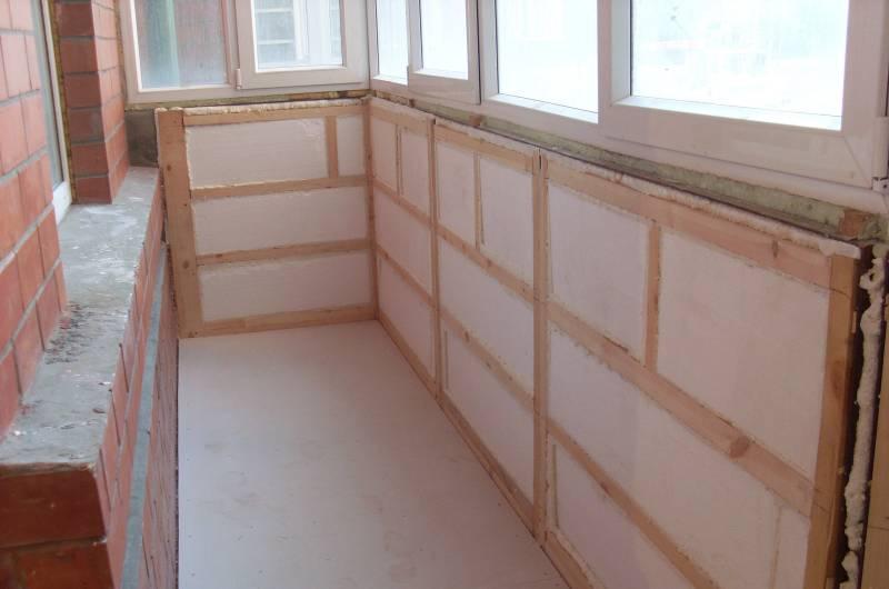 Утепление балкона полистиролом толщиной 50 мм
