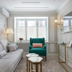 узкая гостиная в квартире