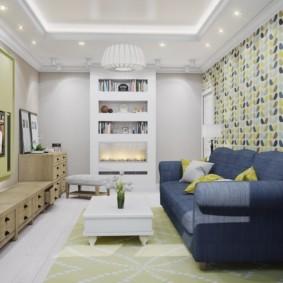 узкая гостиная в квартире фото декор