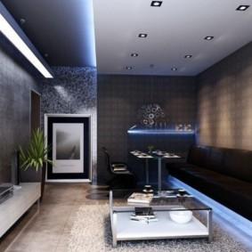 узкая гостиная в квартире идеи декор