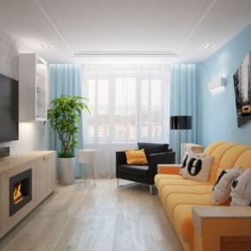 узкая гостиная в квартире идеи декора