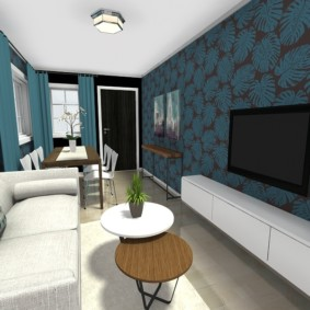 узкая гостиная в квартире идеи