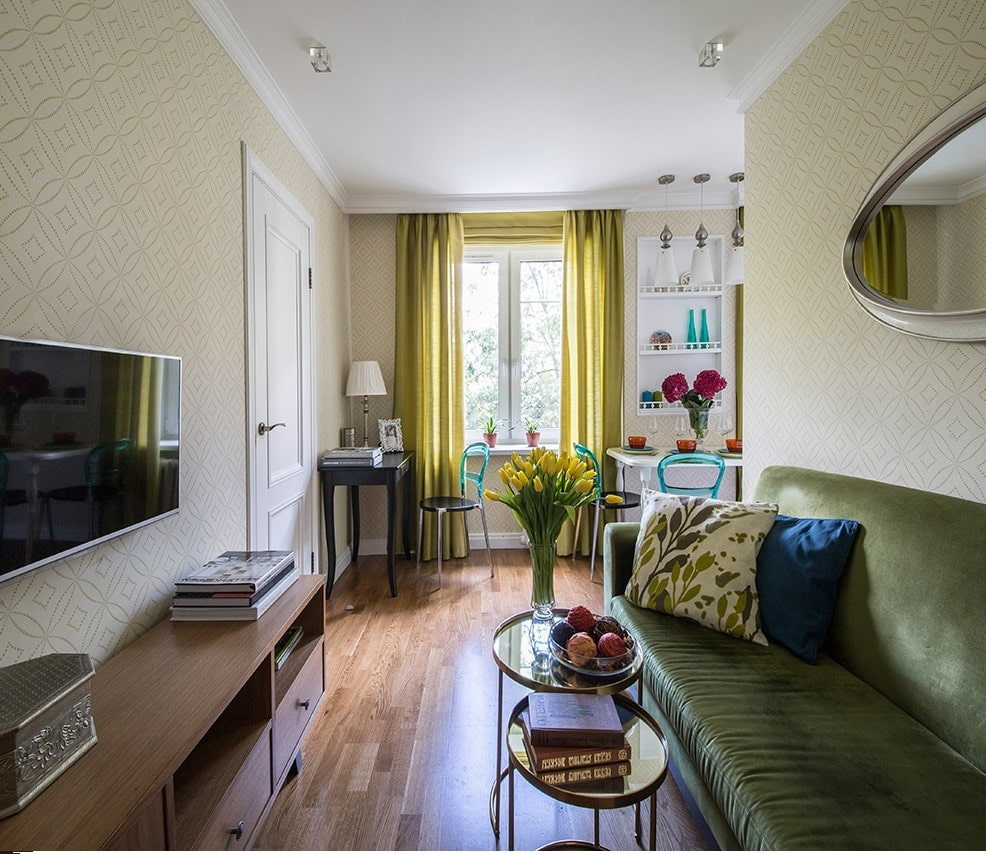дизайн смежной гостиной фото определенных условиях размещении