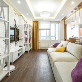 узкая гостиная в квартире идеи интерьер