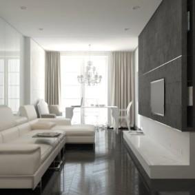 узкая гостиная в квартире идеи интерьера