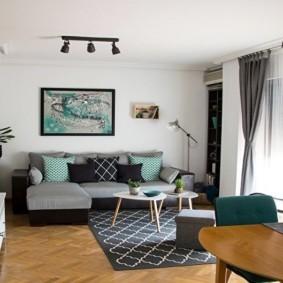 узкая гостиная в квартире идеи оформление