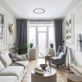 узкая гостиная в квартире идеи оформления