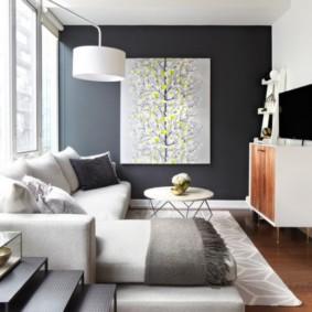 узкая гостиная в квартире варианты