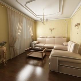 узкая гостиная в квартире фото варианты
