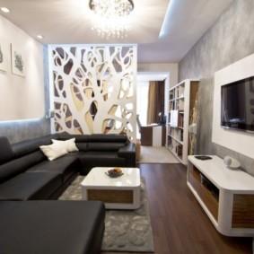узкая гостиная в квартире фото вариантов