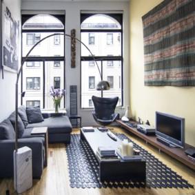 узкая гостиная в квартире идеи вариантов