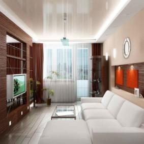 узкая гостиная в квартире виды
