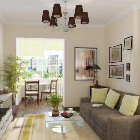 узкая гостиная в квартире фото виды