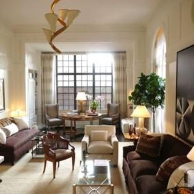 узкая гостиная в квартире фото видов