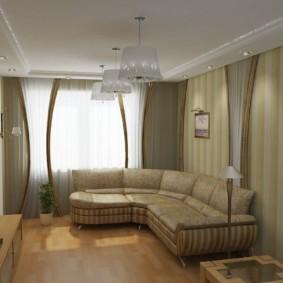 узкая гостиная в квартире виды идеи