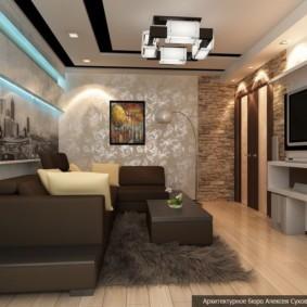 узкая гостиная в квартире идеи виды