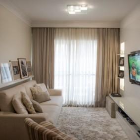 узкая гостиная в квартире виды декора