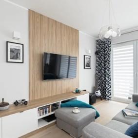узкая гостиная в квартире виды оформления