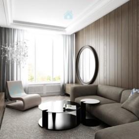 узкая гостиная в квартире дизайн