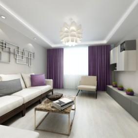 узкая гостиная в квартире фото дизайн