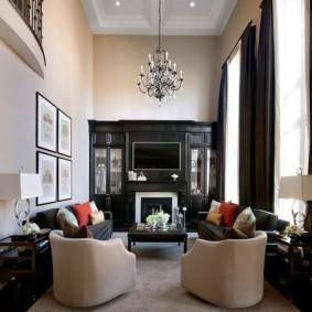 узкая гостиная в квартире дизайн идеи
