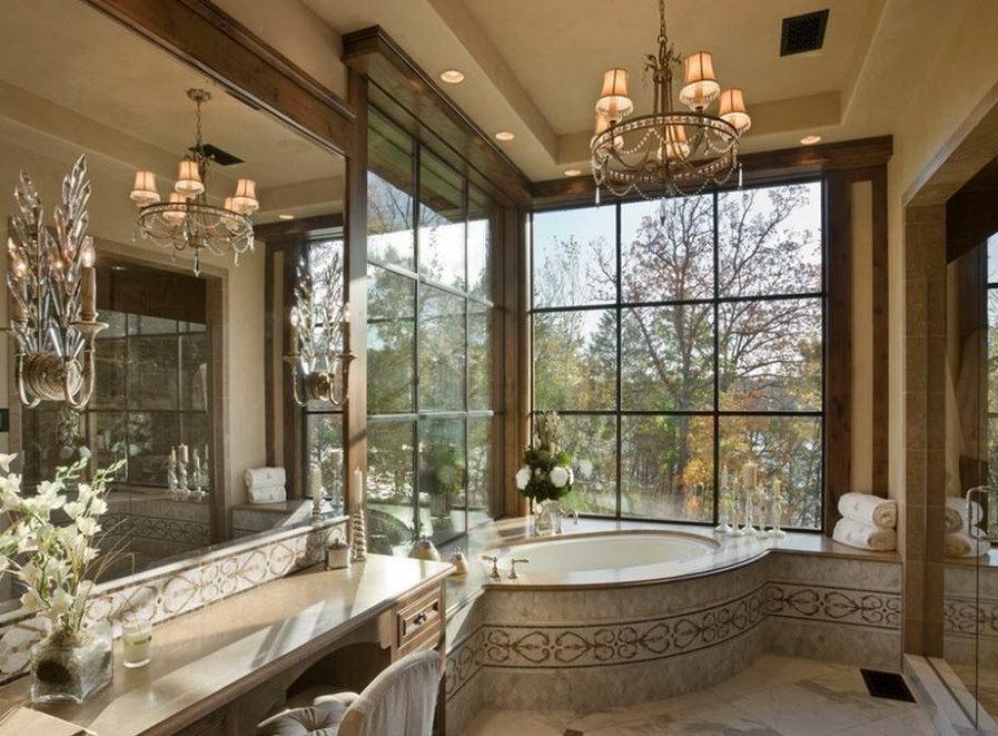 Чугунная ванна в загородном доме