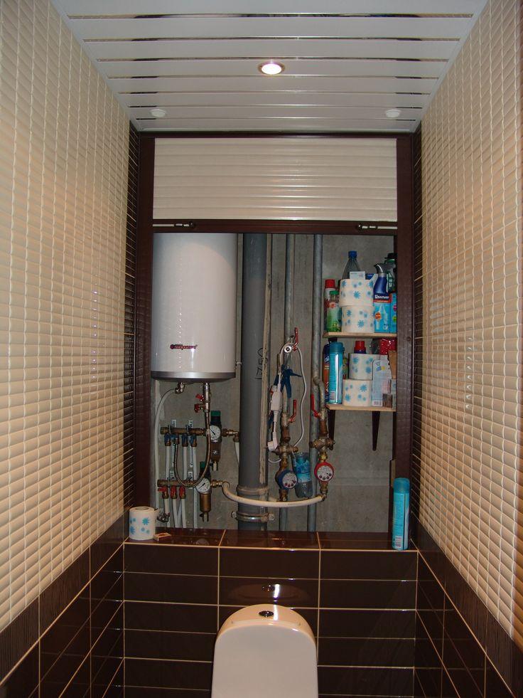 Накопительный водонагреватель в нише с рольставнями