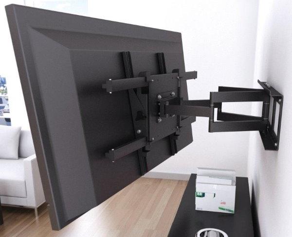 Крепление телевизора на стене с помощью кронштейна