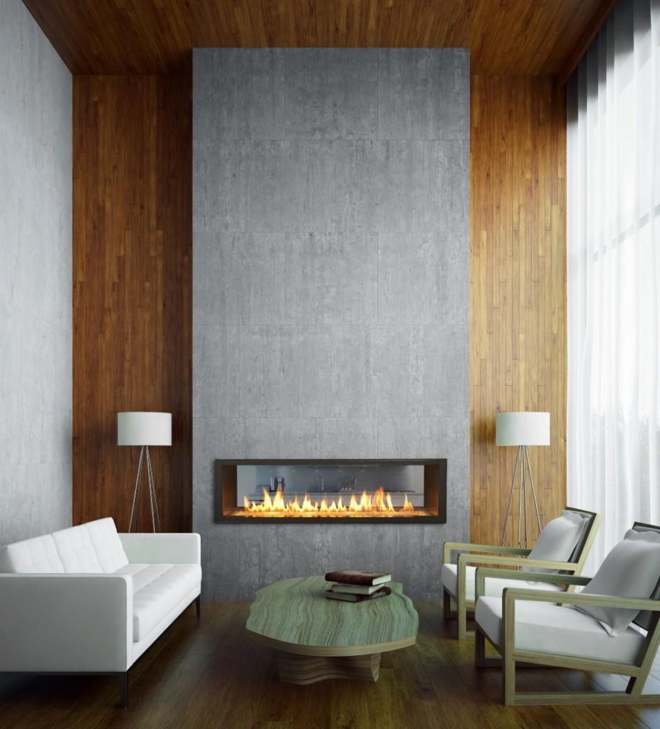 Серо-коричневая гостиная в стиле минимализма