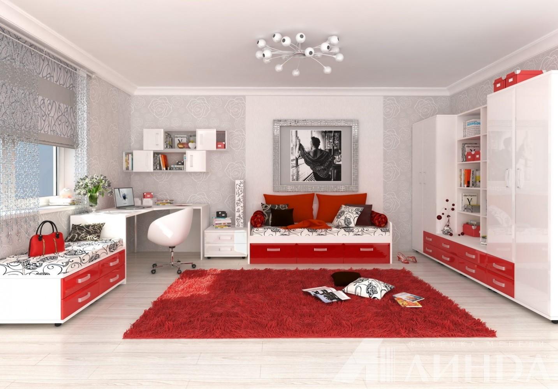 комната для девочки в стиле хай тек