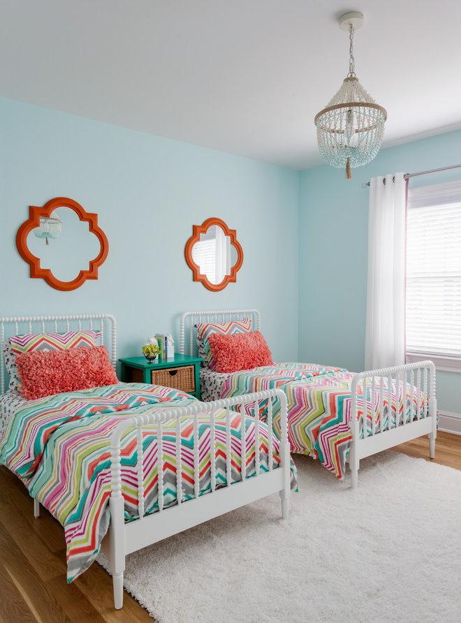 Декорирование детской комнаты для двух сестер