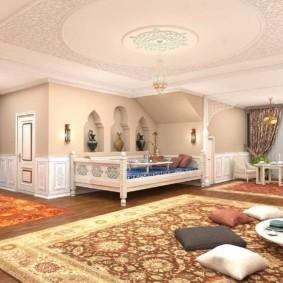 интерьер комнаты в восточном стиле фото декора