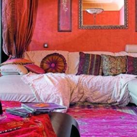 интерьер комнаты в восточном стиле декор идеи