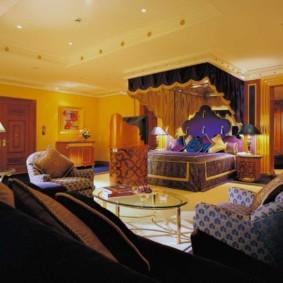 интерьер комнаты в восточном стиле идеи декора