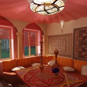 интерьер комнаты в восточном стиле фото оформления
