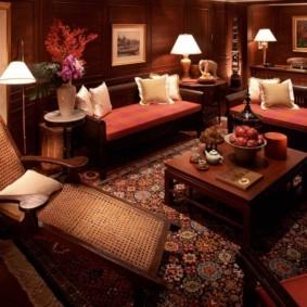 интерьер комнаты в восточном стиле варианты оформления