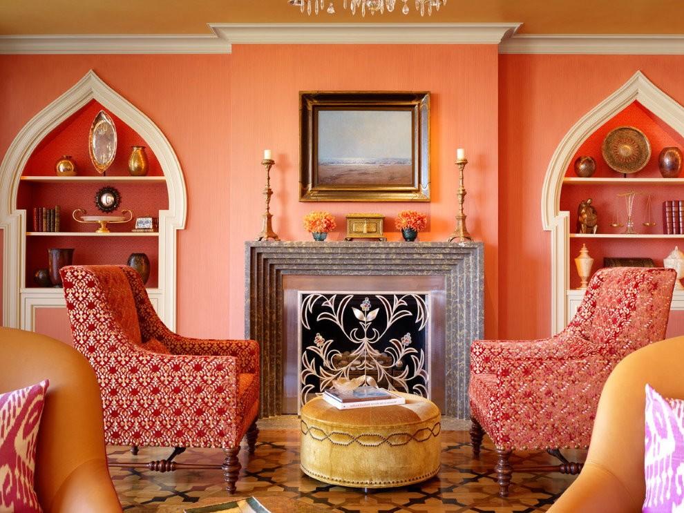 Марокканский стиль в интерьере зала