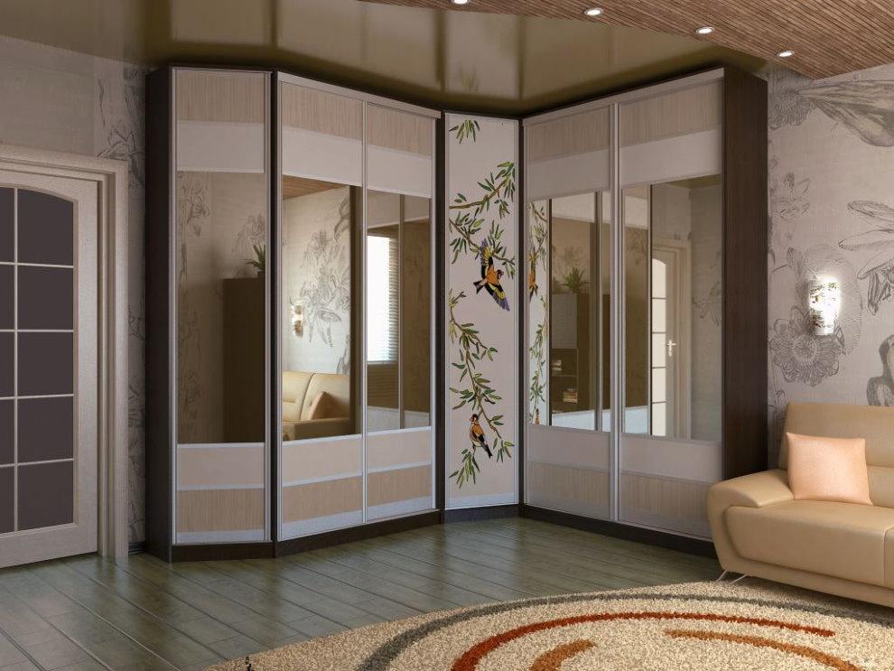 Гостиная в современном стиле с угловым шкафом