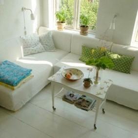 дизайн маленького зала мебель