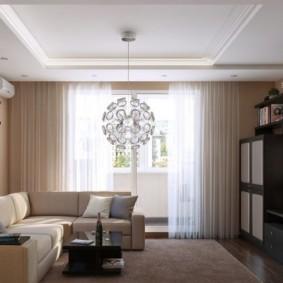 гармоничный дизайн маленького зала