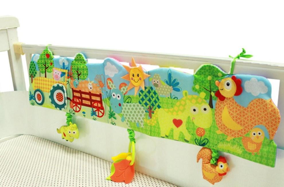 Красивые бортики с картинками на детской кроватке