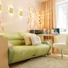Раскладной диван в детской комнате
