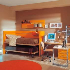 Мебель-трансформер в комнате девочек